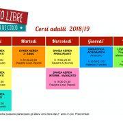 CALENDARIO CORSI DI CIRCO PER ADULTI