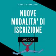 NUOVE MODALITA' D'ISCRIZIONE Anno sportivo 2020/21